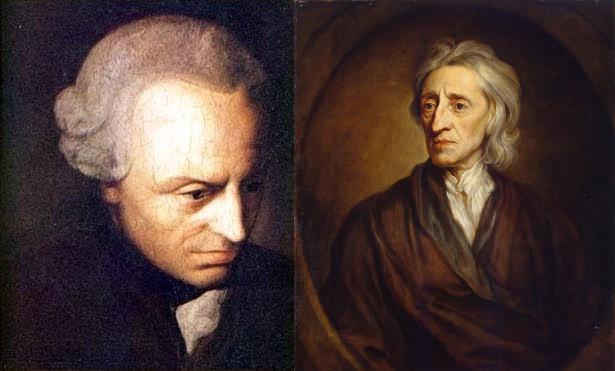 Photo of Kant and John Locke